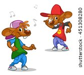 vector set of hip hop dancing... | Shutterstock .eps vector #451308280