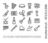 collection of music instruments ...   Shutterstock .eps vector #451311388