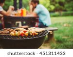friends making barbecue and... | Shutterstock . vector #451311433