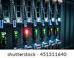 computer server mount on rack... | Shutterstock . vector #451311640