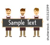 staff coffee shop composition... | Shutterstock .eps vector #451313599