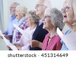 group of seniors singing in... | Shutterstock . vector #451314649