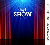 bright show poster design... | Shutterstock .eps vector #451316170