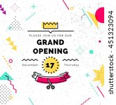 grand opening colorful banner.... | Shutterstock .eps vector #451323094