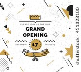 grand opening banner in black... | Shutterstock .eps vector #451323100