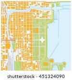 vector street map of downtown... | Shutterstock .eps vector #451324090