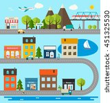 city infographics design... | Shutterstock . vector #451325530