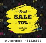 final sale up to 70   off. big... | Shutterstock .eps vector #451326583