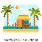 Beach Bungalow Hotel. Flat...