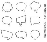 speech bubbles set on a white... | Shutterstock .eps vector #451330750