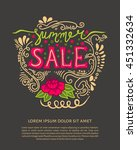 summer sale design template.... | Shutterstock .eps vector #451332634