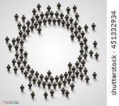 large group of people in the... | Shutterstock .eps vector #451332934