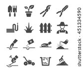 gardening icons. included the... | Shutterstock .eps vector #451334590