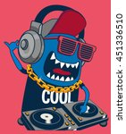 monster dj  party  music | Shutterstock .eps vector #451336510