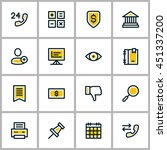 thin line business icon set.... | Shutterstock .eps vector #451337200
