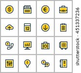 thin line business icon set.... | Shutterstock .eps vector #451337236