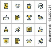 thin line business icon set.... | Shutterstock .eps vector #451337254