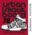 Skater  Sneakers Graphic Desig...