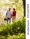 old couple  elderly man and... | Shutterstock . vector #451342504