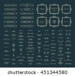 vintage set exclusive borders... | Shutterstock .eps vector #451344580