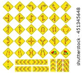 traffic signs design concept car | Shutterstock .eps vector #451345648
