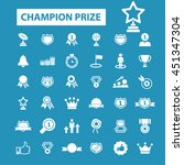 champion prize icons   Shutterstock .eps vector #451347304