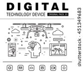 modern digital technology pack. ... | Shutterstock .eps vector #451349683