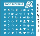 food shopping icons | Shutterstock .eps vector #451350910
