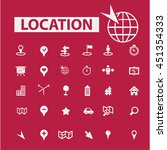 location icons | Shutterstock .eps vector #451354333