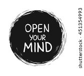 open your mind. vector...   Shutterstock .eps vector #451354993