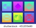 colorful backgrounds with... | Shutterstock .eps vector #451355680