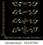 golden decorative design... | Shutterstock .eps vector #45135703