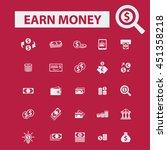 earn money icons | Shutterstock .eps vector #451358218