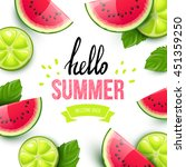 summer colorful poster. vector... | Shutterstock .eps vector #451359250
