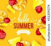 summer colorful poster. vector... | Shutterstock .eps vector #451359274