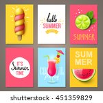 set of summer brochures with... | Shutterstock .eps vector #451359829