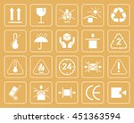 set of packaging symbols... | Shutterstock .eps vector #451363594