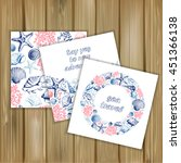 set of banners with marine...   Shutterstock .eps vector #451366138
