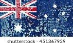 the australia flag painted on... | Shutterstock . vector #451367929