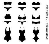 silhouettes of different swim... | Shutterstock .eps vector #451368169