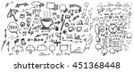 business doodles sketch vector... | Shutterstock .eps vector #451368448
