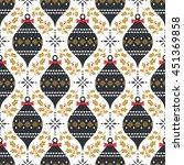seamless christmas pattern in... | Shutterstock .eps vector #451369858