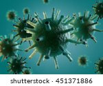 microscopic image of a virus.... | Shutterstock . vector #451371886