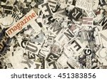 montasge off letters and words  | Shutterstock . vector #451383856