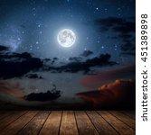 Background Night Sky With Star...