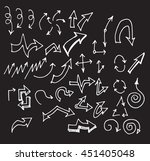 arrows doodle set on blackboard  | Shutterstock .eps vector #451405048
