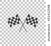 Crossed Checkered Flags Logo...