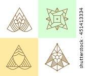 abstract geometric logo set.... | Shutterstock .eps vector #451413334