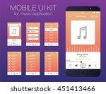 mobile ui kit for music...