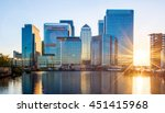 canary wharf  financial hub in... | Shutterstock . vector #451415968